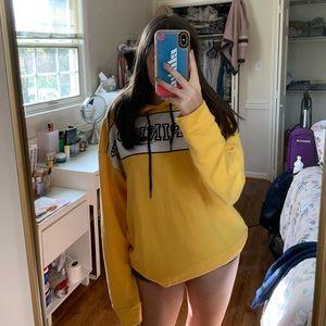 VS yellow sweatshirt